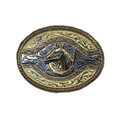 Fibbia Testa Cavallo Ferro