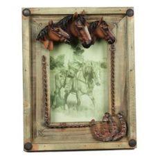 Portafoto Tre Teste Cavallo