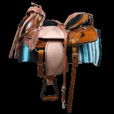 Sella Western Silver Horse 3Barrel