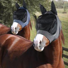 Maschera Horses In Lycra Con Rete Lunga Per Occhi