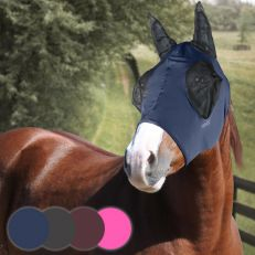 Maschera Horses In Lycra Con Rete Occhi