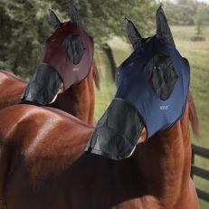Maschera Horses In Lycra Con Rete Occhi E Naso