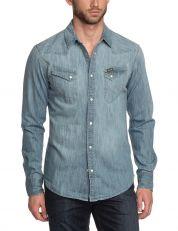 Camicia Uomo Wrangler Tinted Bleach