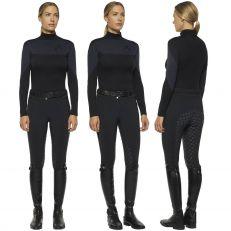T-Shirt Donna Cavalleria Toscana Tech Wool Velvet Manica Lunga