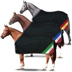 Coperta Cavallo in Pile Horses Flag