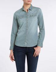 Camicia Donna Wrangler Denim Bleach