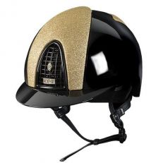 Casco Equitazione Kep Italia Cromo Polish Star Gold