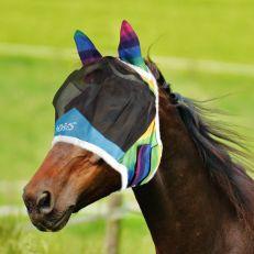 Maschera Horses Fly Shield Rainbow