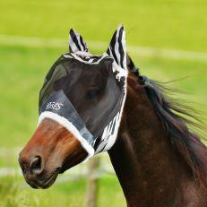 Maschera Horses Fly Shield Zebra