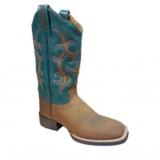 Stivali Western Donna Old West Green Flame