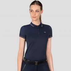 Polo Donna Equiline Riders Team Con Logo