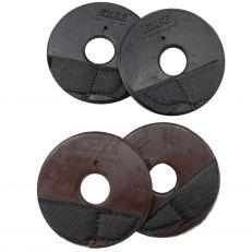 Rosette In Gomma Con Velcro