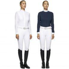 Camicia Donna Cavalleria Toscana Jersey Maniche Lunghe